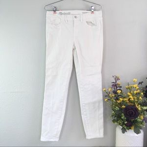 Madewell skinny ankle white mid rise jeans